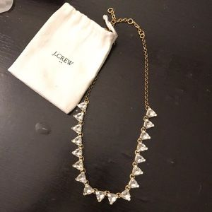 Brass plated crystal necklace